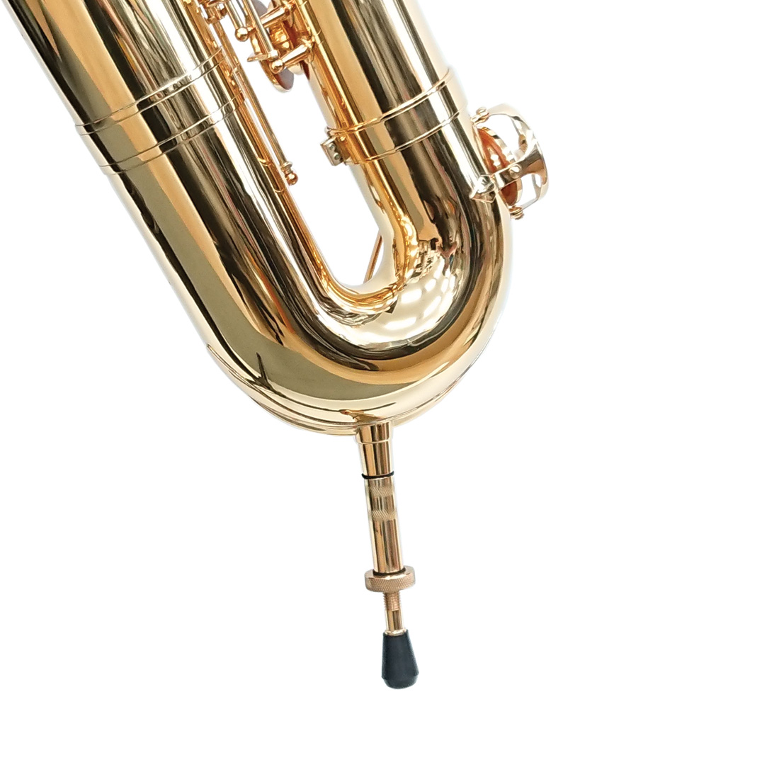 座奏時に使用できる着脱式のペグがついているため便利で、地面とも接地する為低音域の響きも充実します。